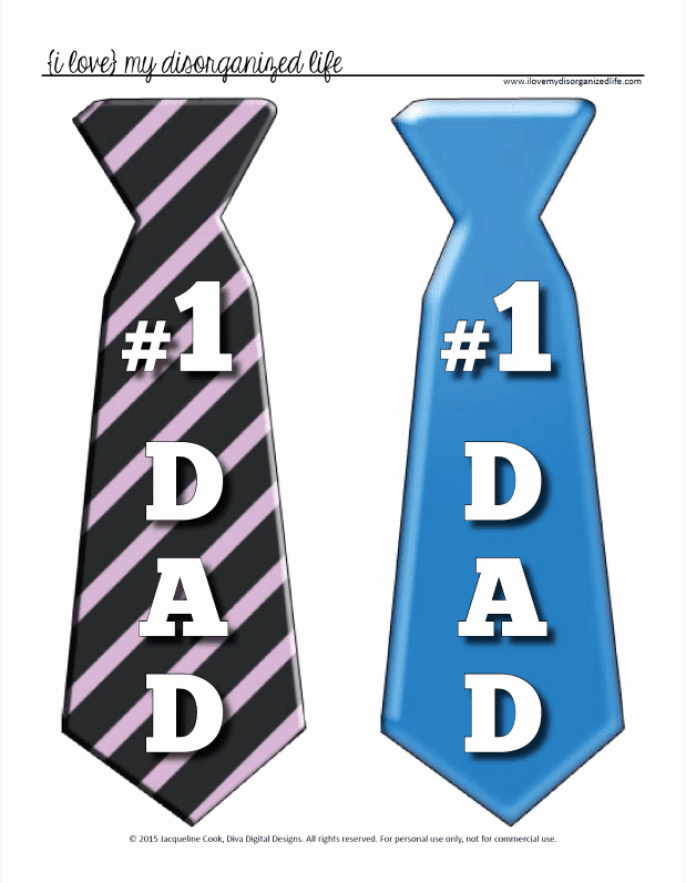 Printable Fathers Day Tie Luxury Father S Day Tie Printable top Gifts or Make A Fun Banner