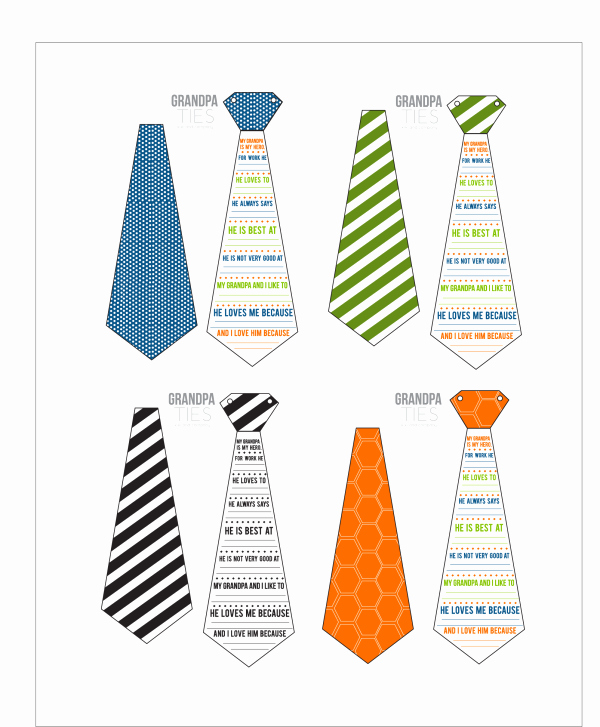 Printable Fathers Day Tie Luxury Grandpa Ties A Father S Day Printable Card for Grandpa
