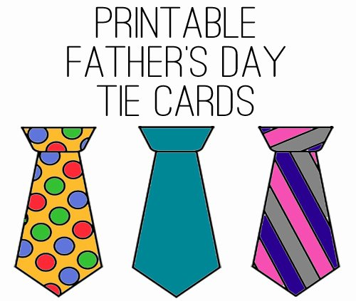 Printable Fathers Day Tie Unique Printable Father S Day Tie Cards