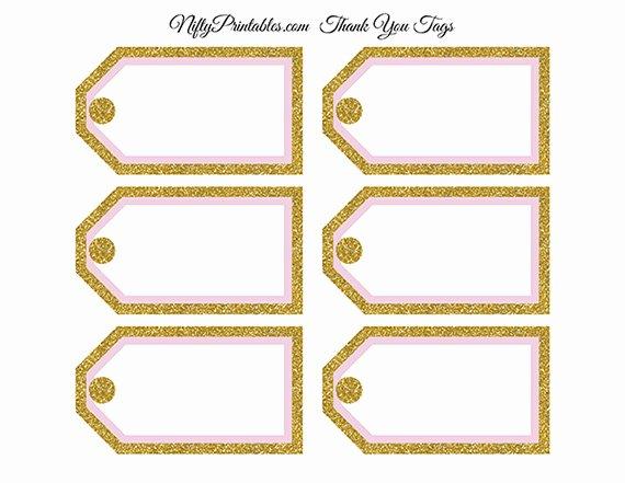 Printable Favor Tag Templates Fresh Blank Favor Tags Pink Gold Glitter Nifty Printables