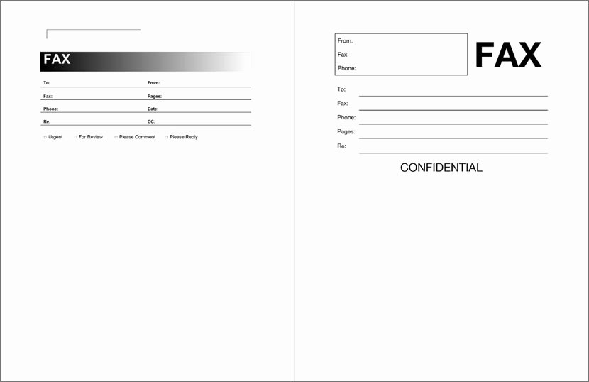 Printable Fax Cover Page Inspirational Microsoft Fax Cover Sheet