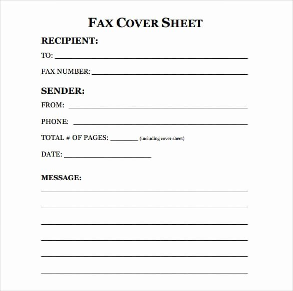 Printable Fax Cover Page Lovely [ Download ] Sample Fax Cover Sheet Templates