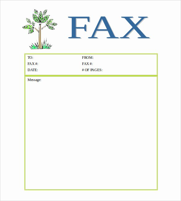 Printable Fax Cover Page New 13 Printable Fax Cover Sheet Templates – Free Sample