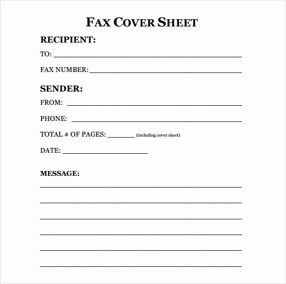 Printable Fax Cover Sheet Awesome Printable Standard Fax Cover Sheet Printable Pages