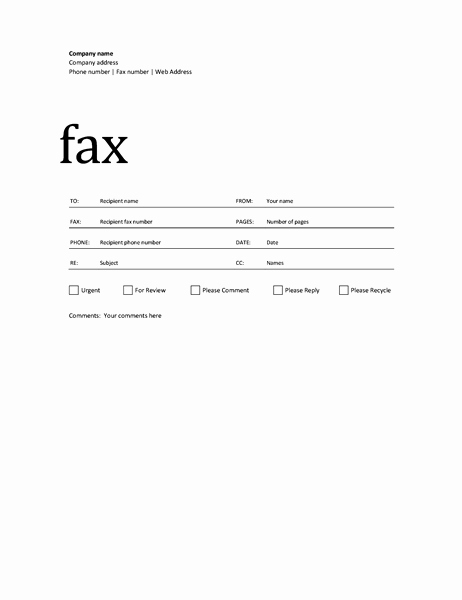 Printable Fax Cover Sheet Best Of 50 Free Fax Cover Sheet Templates [ Word Pdf ]