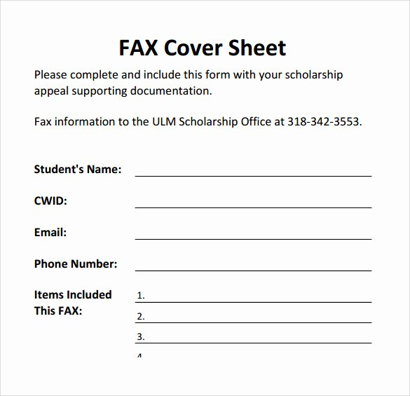 Printable Fax Cover Sheet Inspirational Sample Printable Fax Cover Sheet 17 Free Documents In