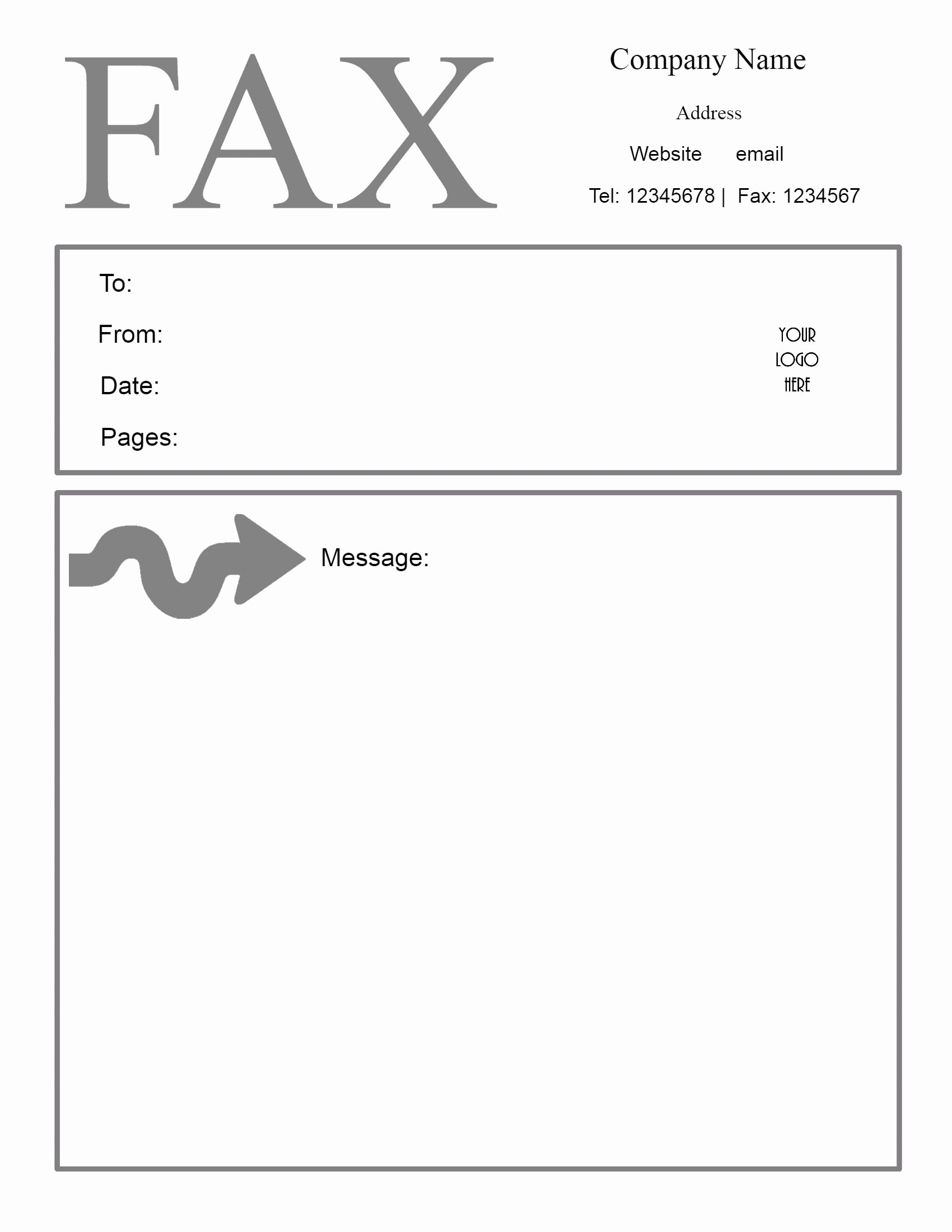 Printable Fax Cover Sheet Lovely Free Fax Cover Sheet Template