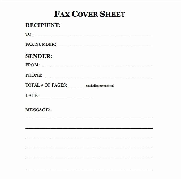 Printable Fax Cover Sheet Luxury Free Fax Cover Sheet Template format Example Pdf Printable