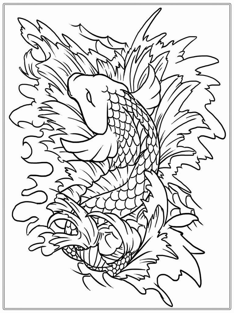 Printable Fish Colouring Pages Awesome Adult Free Fish Coloring Pages