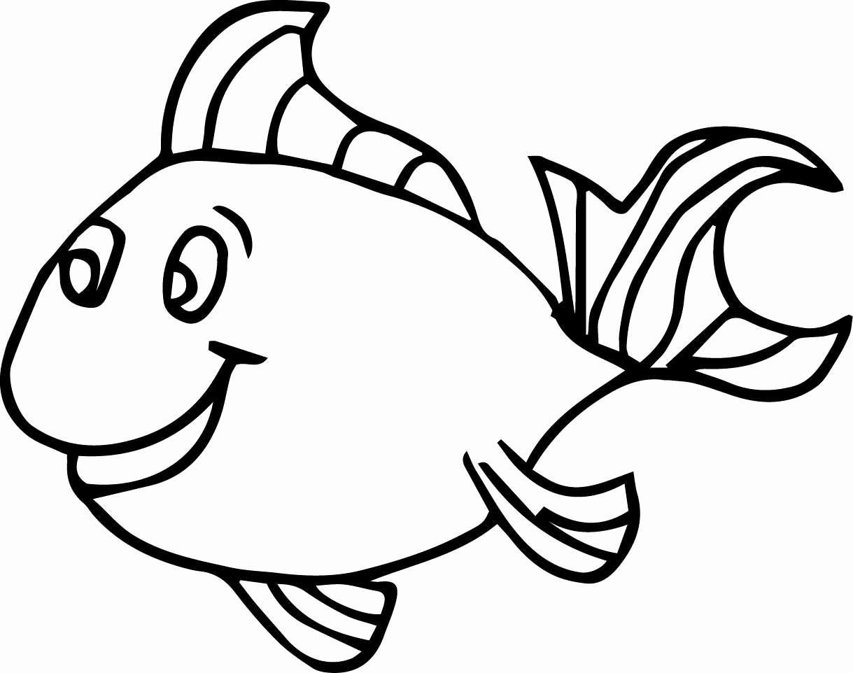 Printable Fish Colouring Pages Best Of Fish Coloring Pages for Kids Preschool and Kindergarten