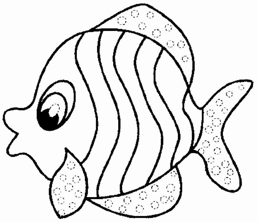 Printable Fish Colouring Pages Elegant Fish Coloring Pages for Preschool Preschool and Kindergarten