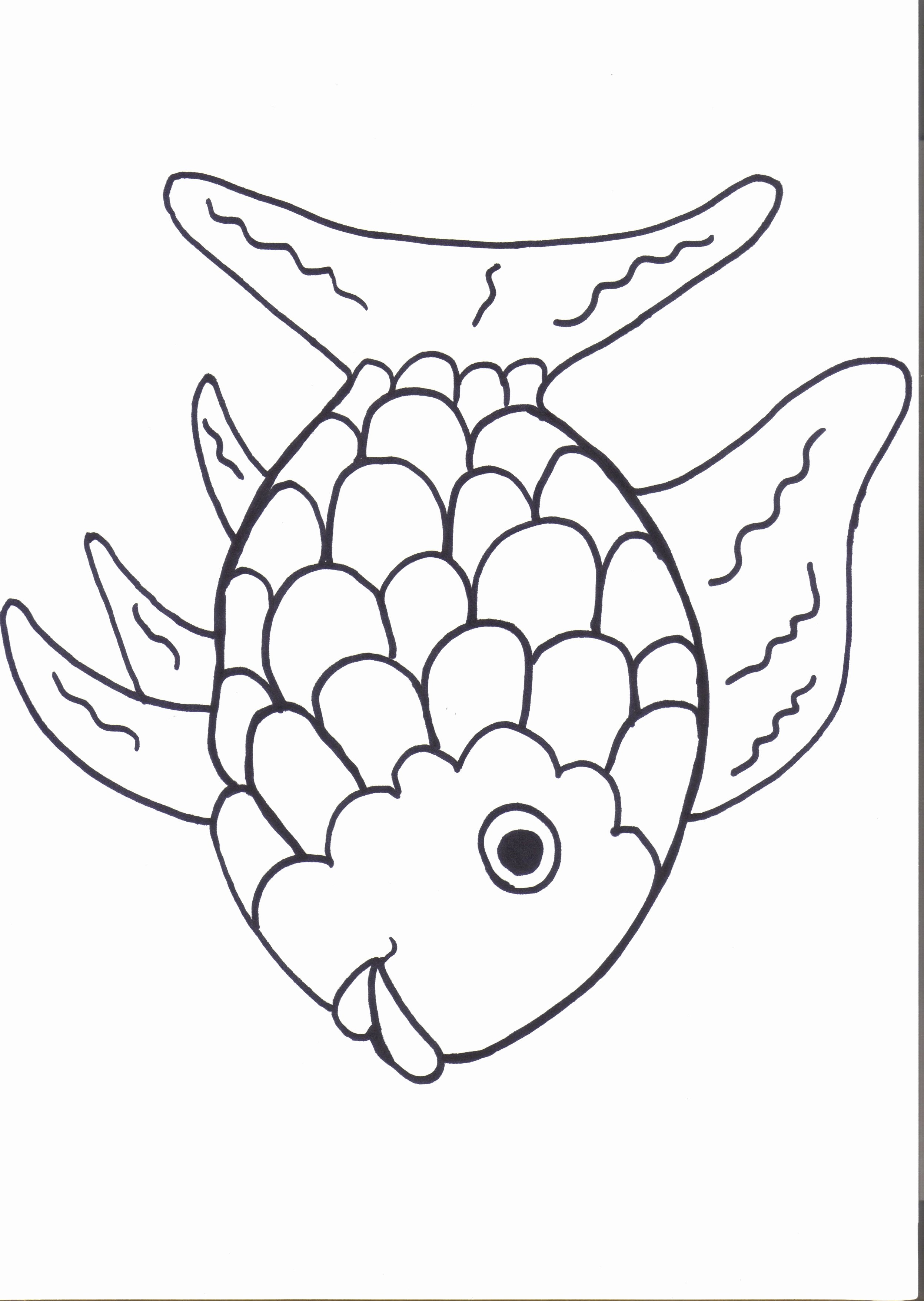 Printable Fish Colouring Pages New Rainbow Fish Printables August Preschool themes