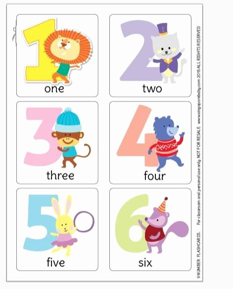 Printable Flashcards for Babies Awesome Number Flashcards Free Printable Pdf