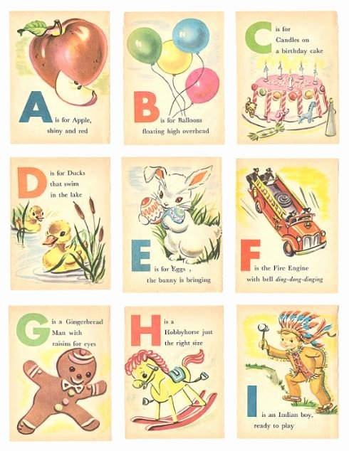 Printable Flashcards for Babies Elegant Free Vintage Alphabet Printables