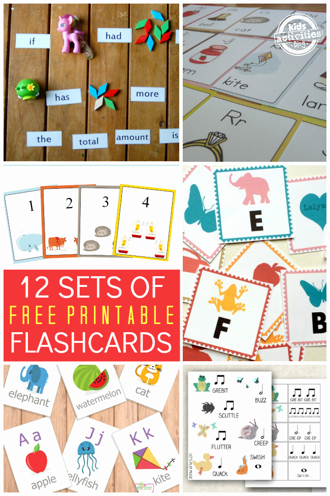 Printable Flashcards for Babies Lovely 12 Sets Of Free Printable Flashcards