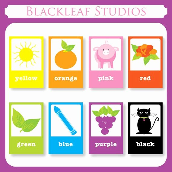 Printable Flashcards for Babies Unique Color Flash Cards Diy Printable for toddlers Primary