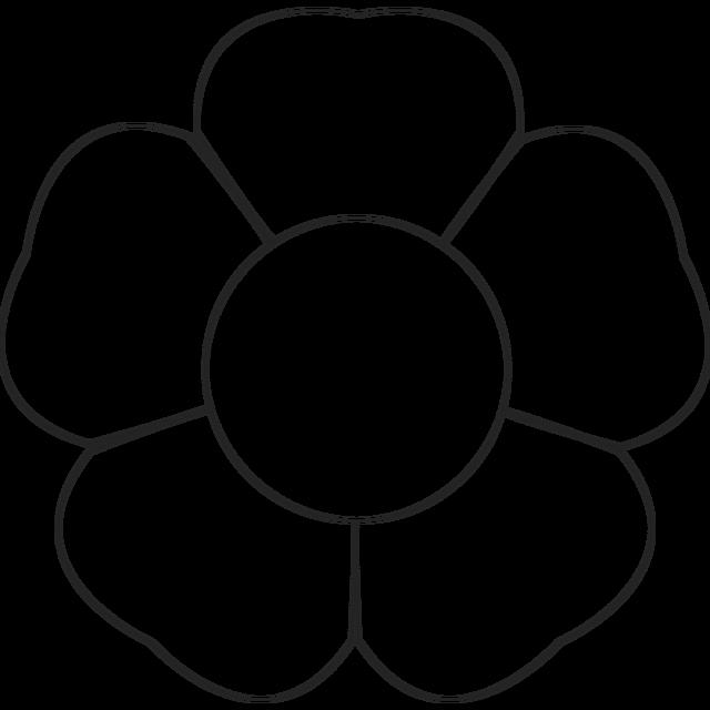 Printable Flower Petal Template Pattern Elegant 5 Petal Flower Pattern Template 20 Free Cliparts