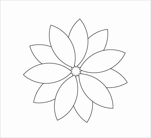 Printable Flower Petal Template Pattern Fresh 12 Printable Flower Petal Templates Free Download