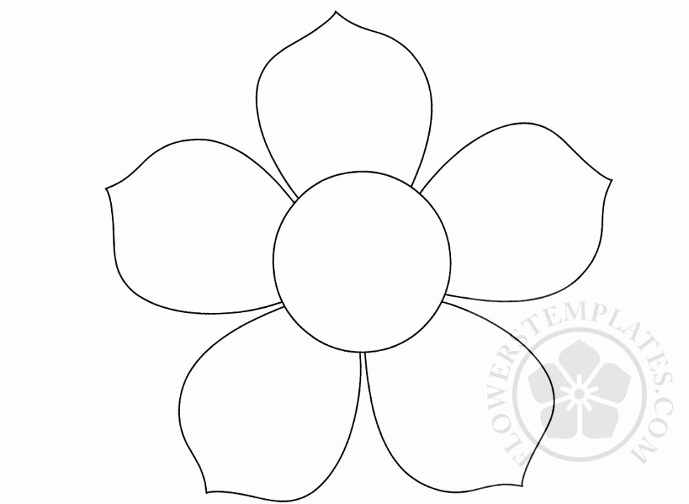 Printable Flower Petal Template Pattern Luxury 5 Petal Flower Pattern – Flowers Templates