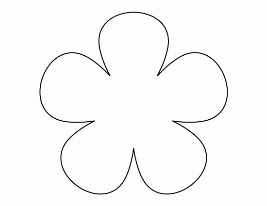 Printable Flower Template Cut Out Best Of Flower Pattern Use the Printable Outline for Crafts