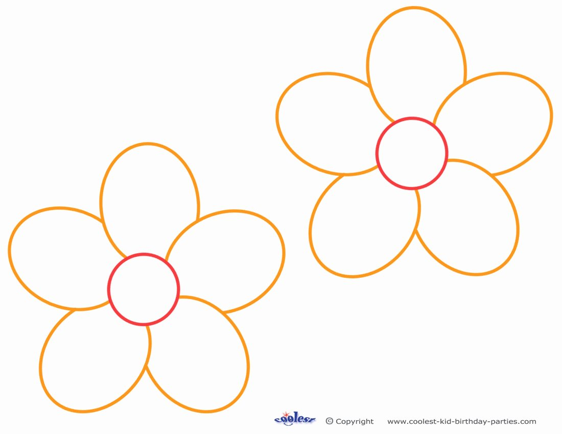 Printable Flower Template Cut Out Elegant Free Flower Templates Printable Cliparts