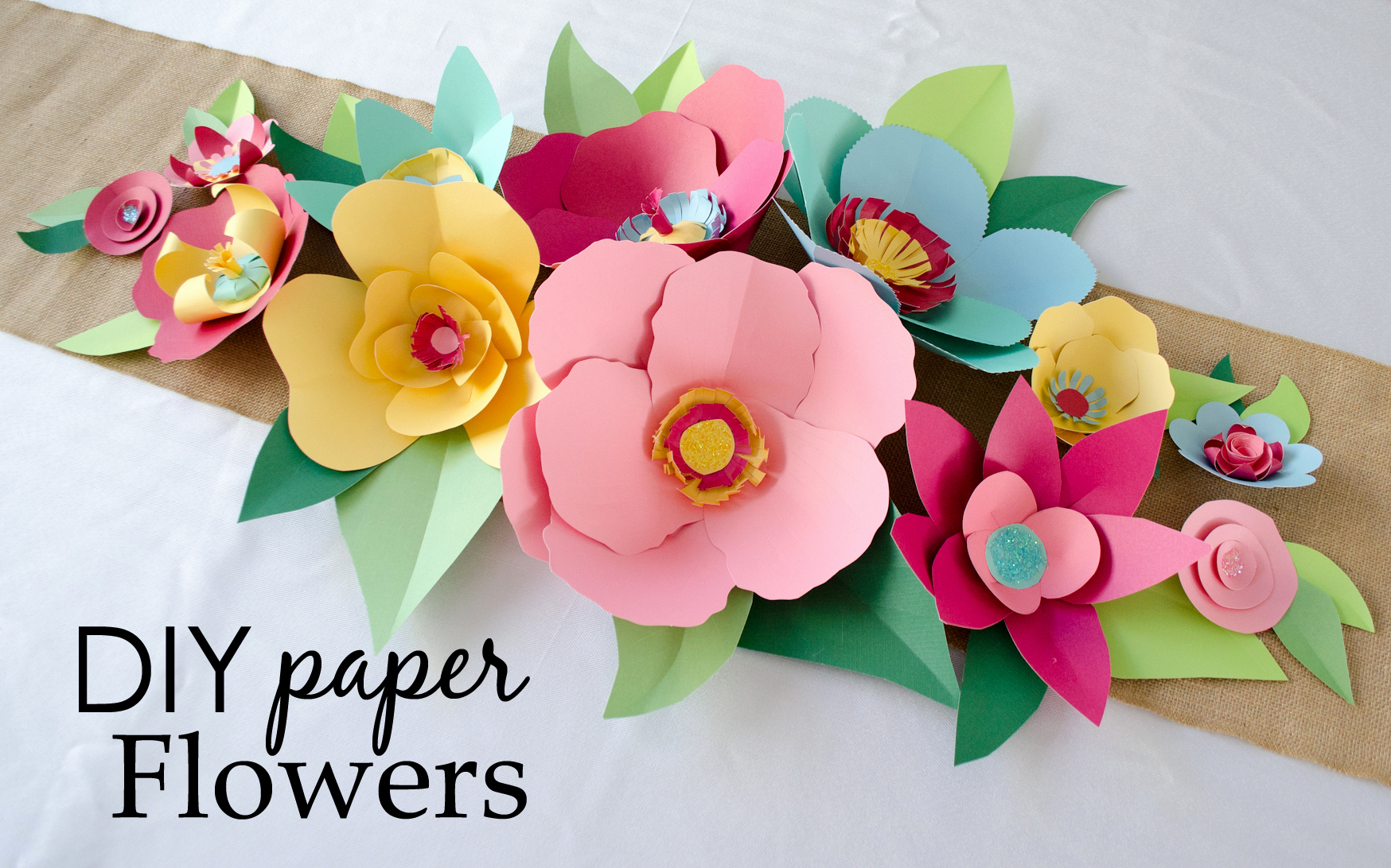 Printable Flower Template Cut Out Inspirational Diy Hand Cut Paper Flowers Project Nursery