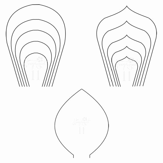 Printable Flower Template Cut Out Inspirational Pdf Set Of 2 Flower Templates and 1 Leaf Template Giant