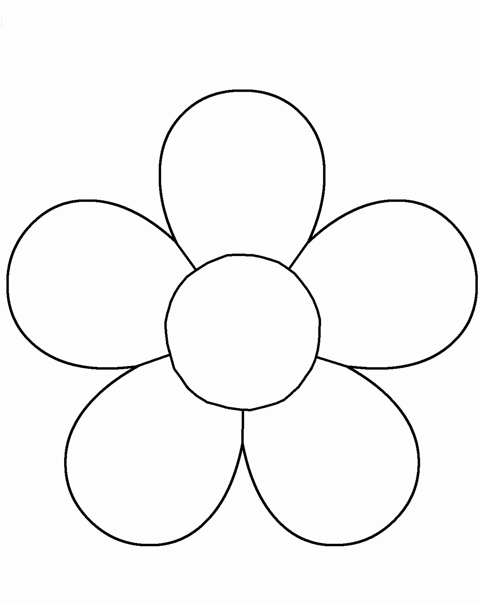 Printable Flower Template Cut Out Lovely Blank Flower Template 12 1600 X 2000