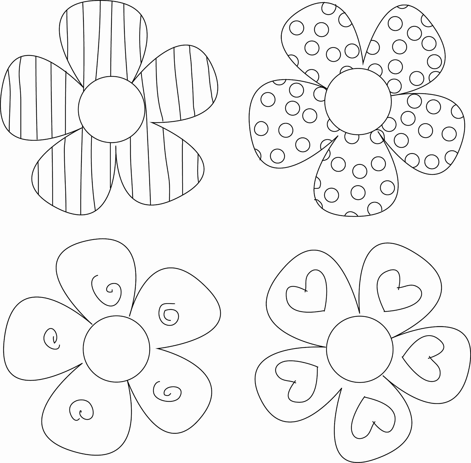 Printable Flower Template Cut Out New Lizzydoodles September 2012