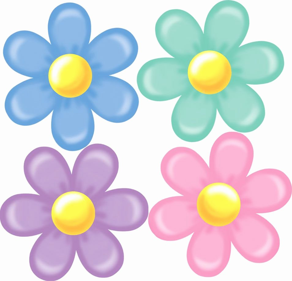 "Printable Flower Template Cut Out New Retro Flower Cutouts Set Of 4 14"" Buy Line at"