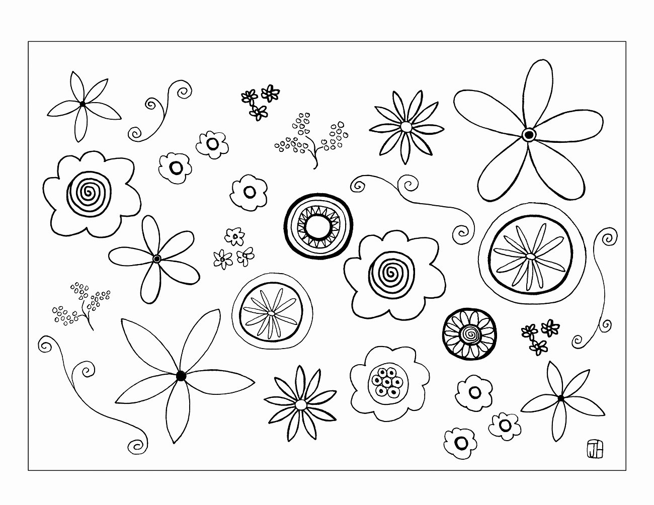 Printable Flower Template Cut Out Unique Flower Template to Color