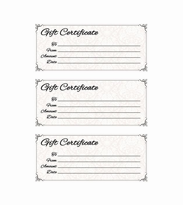 Printable Gift Certificates Templates Free Awesome Classic Antique Gift Certificate