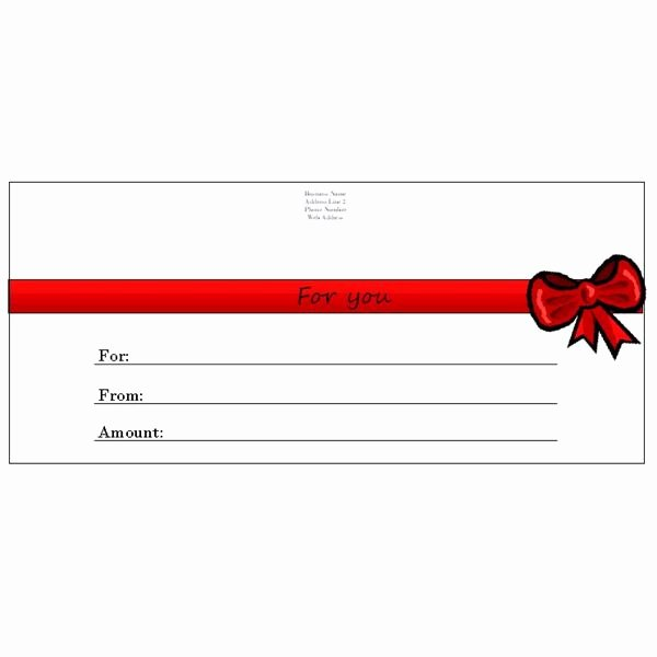 Printable Gift Certificates Templates Free Beautiful 6 Free Printable Gift Certificate Templates for Ms Publisher