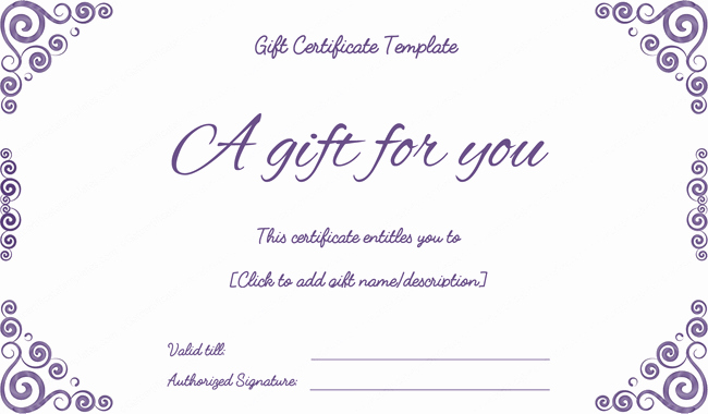 Printable Gift Certificates Templates Free Elegant Purple Free Printable T Certificates Pdf