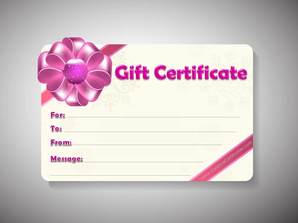 Printable Gift Certificates Templates Free Fresh Free Gift Certificate Template Customizable
