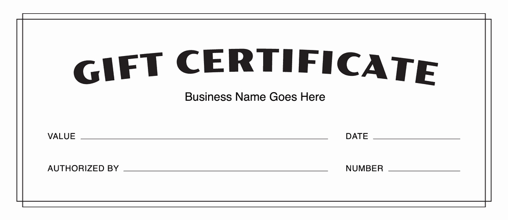 Printable Gift Certificates Templates Free Lovely Gift Certificate Templates Download Free Gift