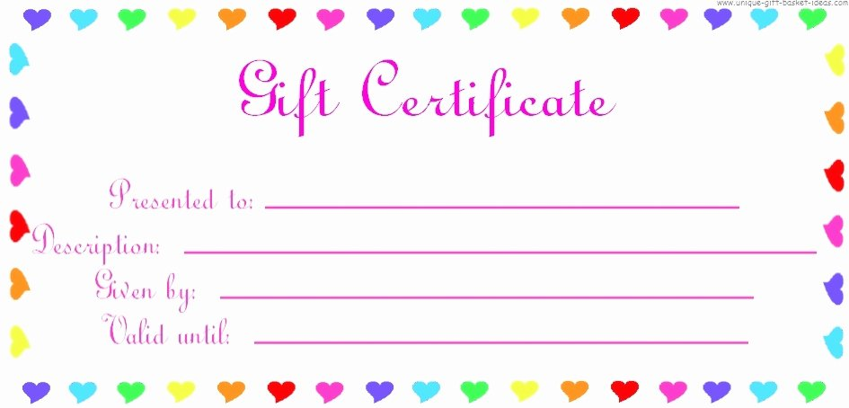Printable Gift Certificates Templates Free Luxury 28 Cool Printable Gift Certificates