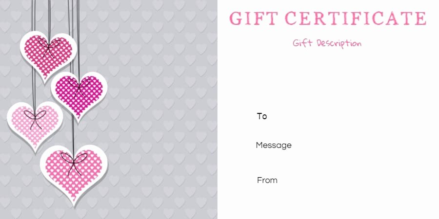 Printable Gift Certificates Templates Free Unique Free Printable Anniversary Gift Vouchers Customize Line