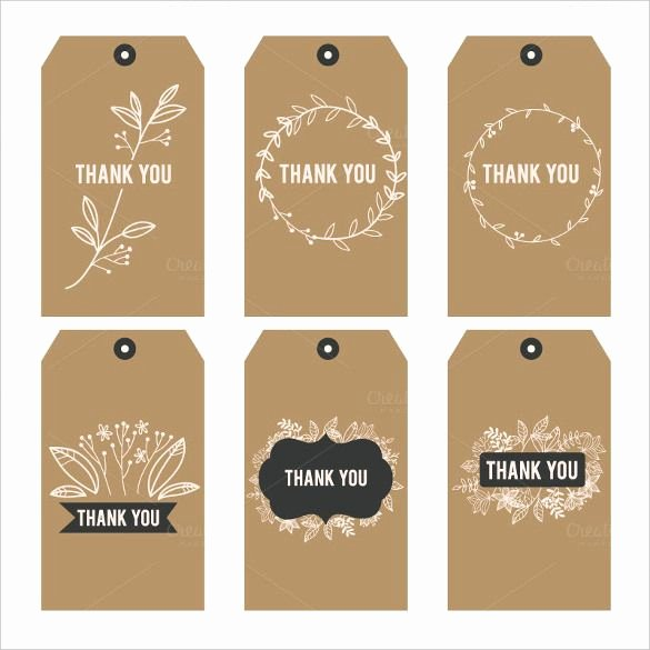 Printable Gift Tag Template Best Of Free Printable Thank You Stickers