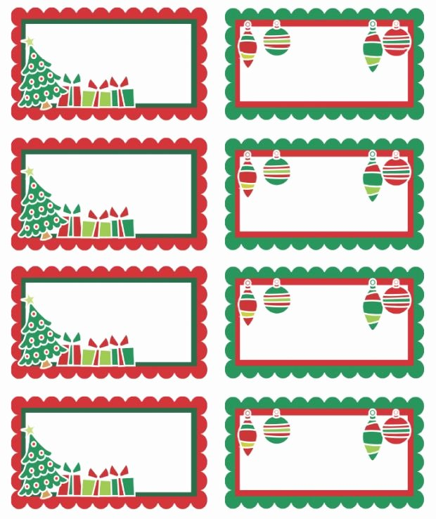 Printable Gift Tag Template Elegant Free Printable Adorable Christmas Holiday Labels Can Use