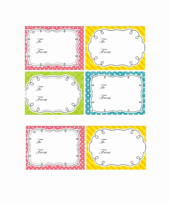 Printable Gift Tag Template Lovely 44 Free Printable Gift Tag Templates Template Lab