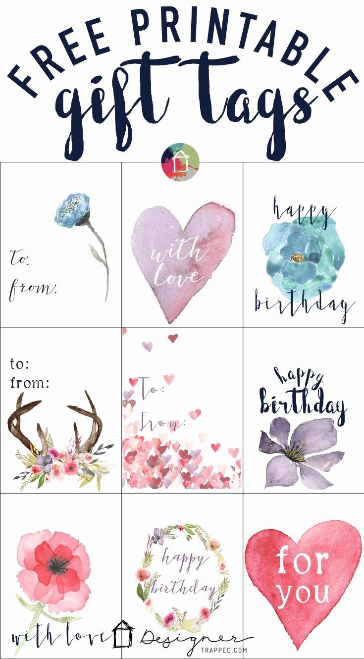 Printable Gift Tag Template New Free Printable Gift Tags for Birthdays