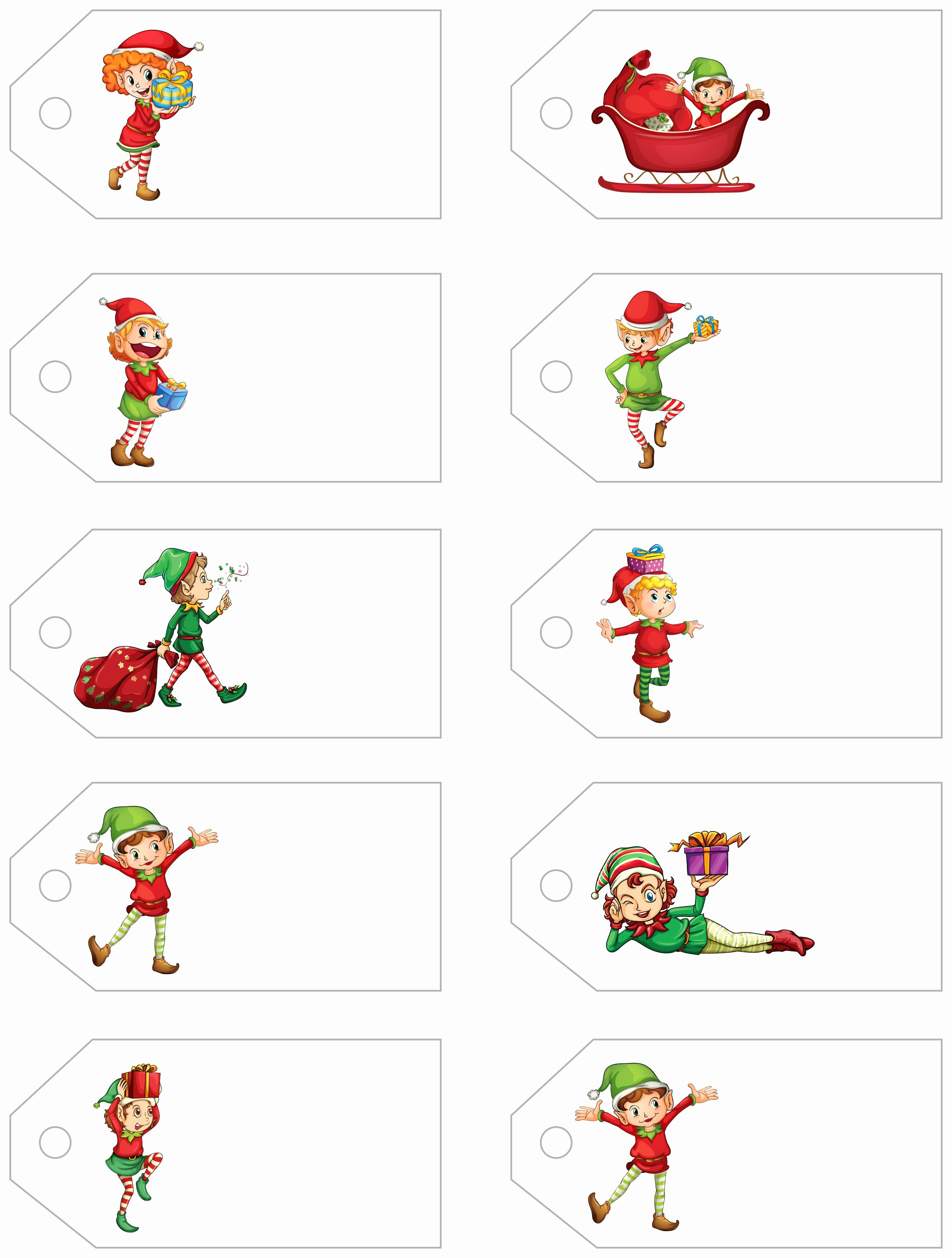 Printable Gift Tag Template New Santa S Little T to You Free Printable Gift Tags and