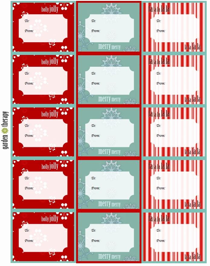 Printable Gift Tags Template Best Of Last Minute Holiday Gifts and Printable Gift Tags Garden
