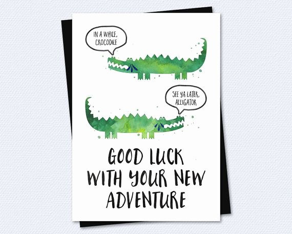 Printable Going Away Cards Awesome Farewell Card Goodbye Card Good Luck with Your New