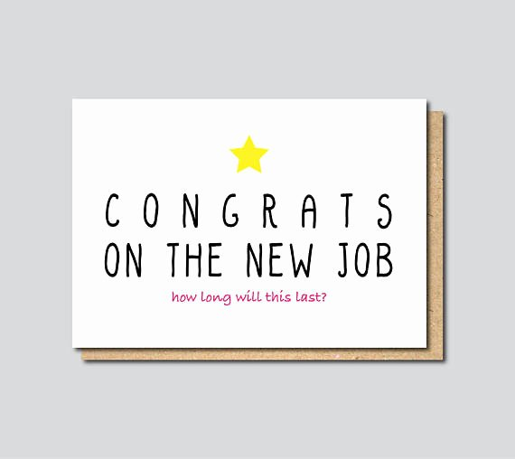 Printable Going Away Cards Best Of Funny New Job Card Funny Farewell Card Funny Good Luck Card