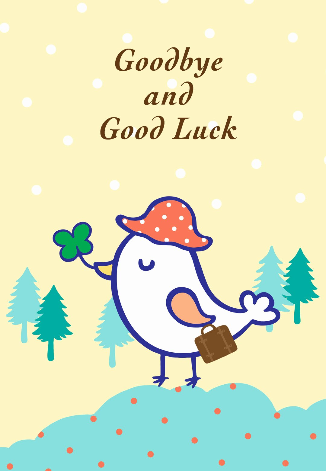 Printable Going Away Cards Elegant Goodbye and Good Luck Farewell Card Free