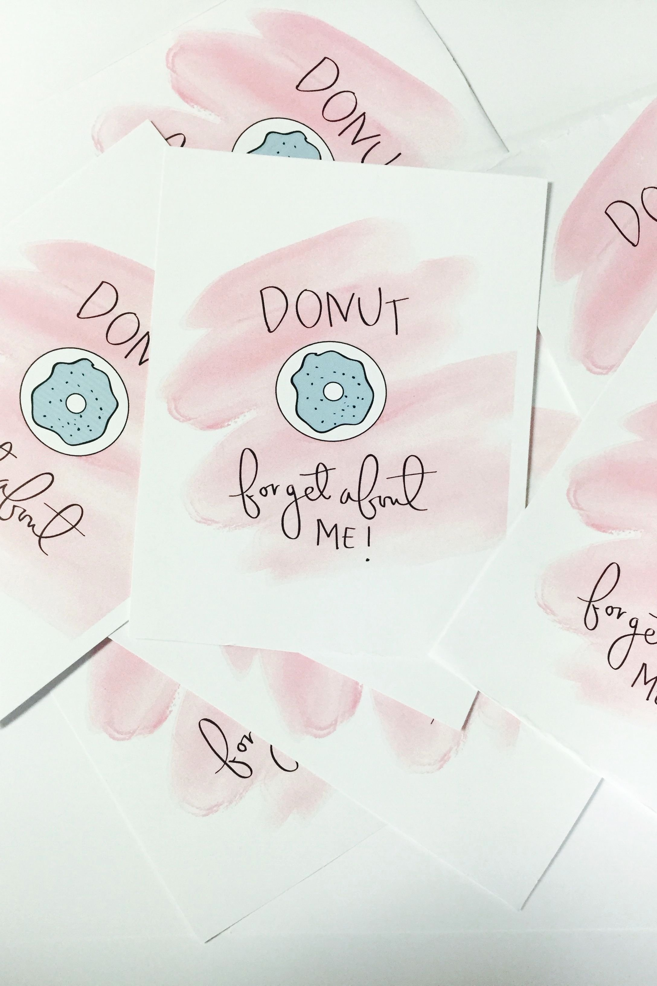 Printable Going Away Cards Fresh Donut for About Me Card & Printable Ly $7