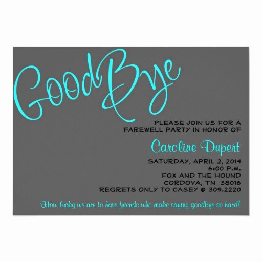 Printable Going Away Cards Inspirational Farewell Invitation
