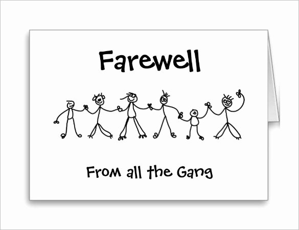 Printable Going Away Cards Lovely Free Farewell Card Template Picture – Farewell Card
